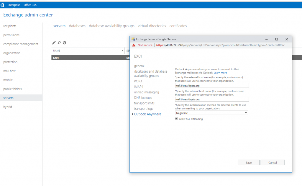 Deploying Exchange 2019 on Windows Server 2016 core in Azure