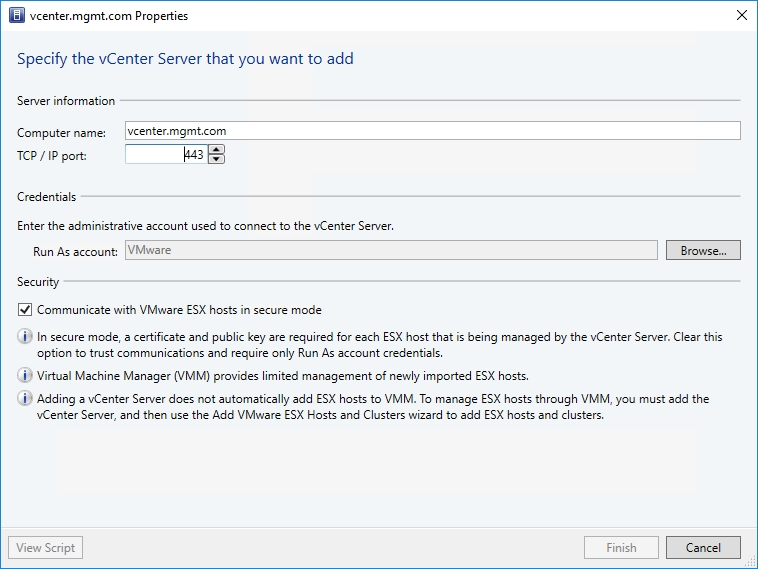 Is System Center VM Manager a viable tool to manage VMware