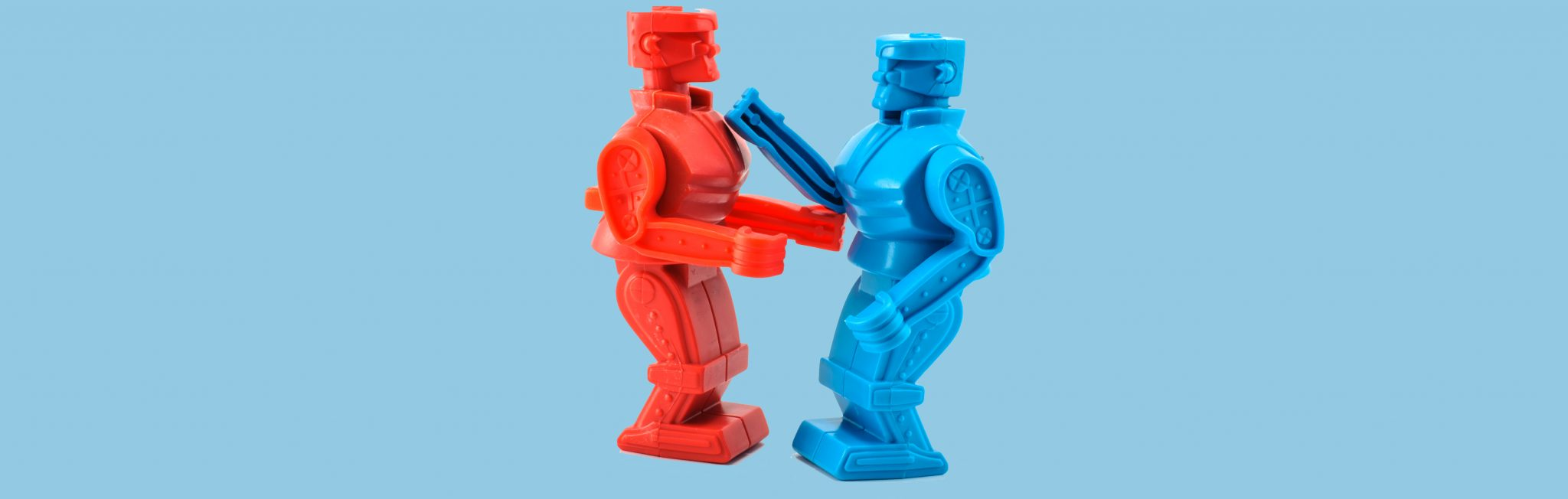 Dueling AI: Is there any benefit when robots train each other?