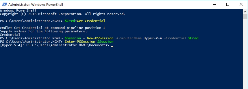 powershell direct