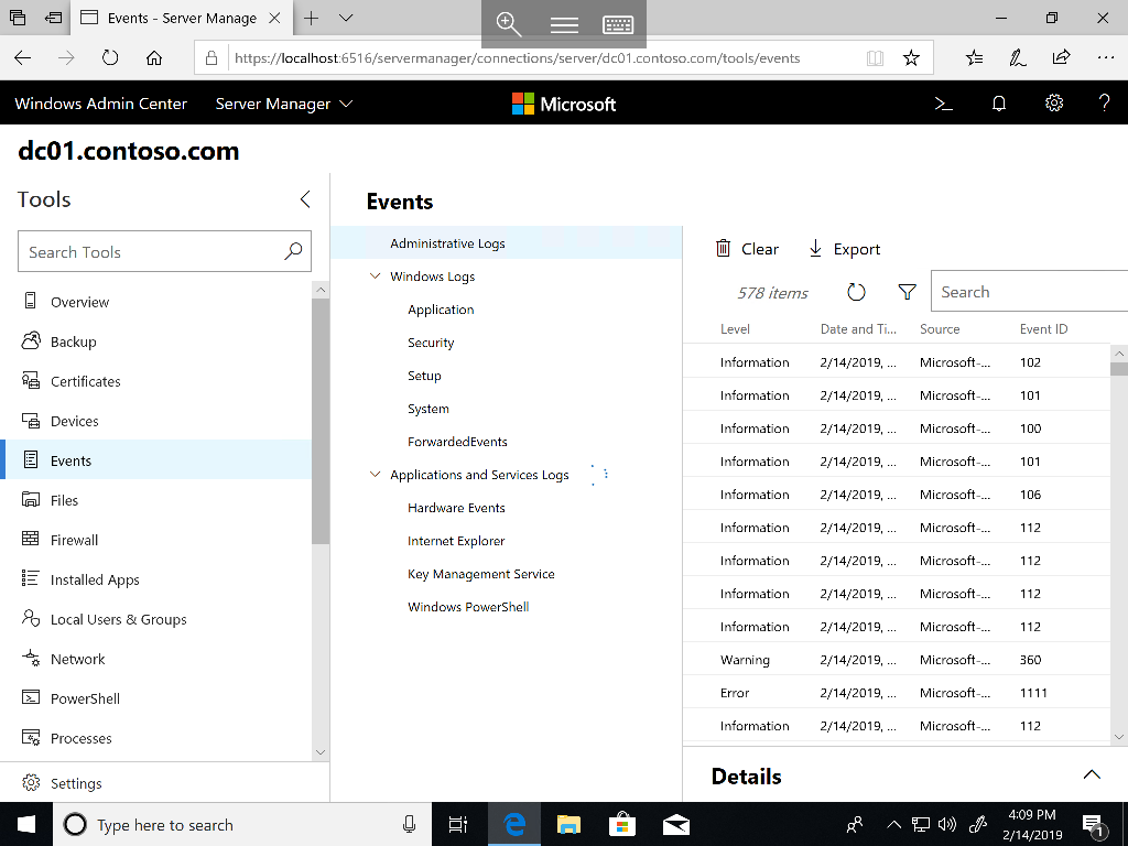 Microsoft Windows Admin Center: A work in progress