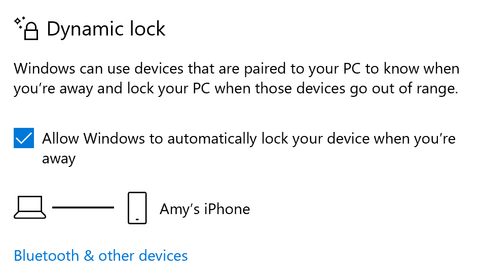 automatically lock your computer when you walk away