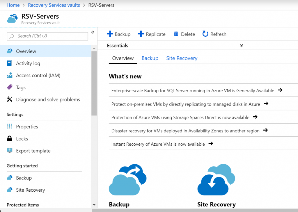 Azure Recovery Services
