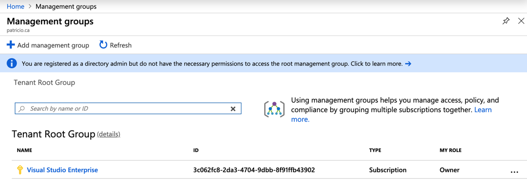 Azure Management Groups