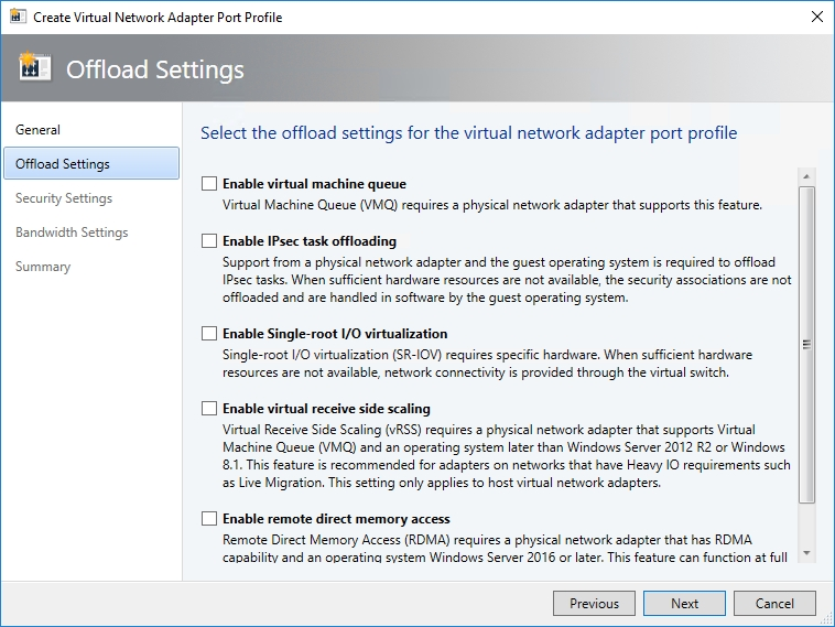 How to create custom-built port profiles for virtual network