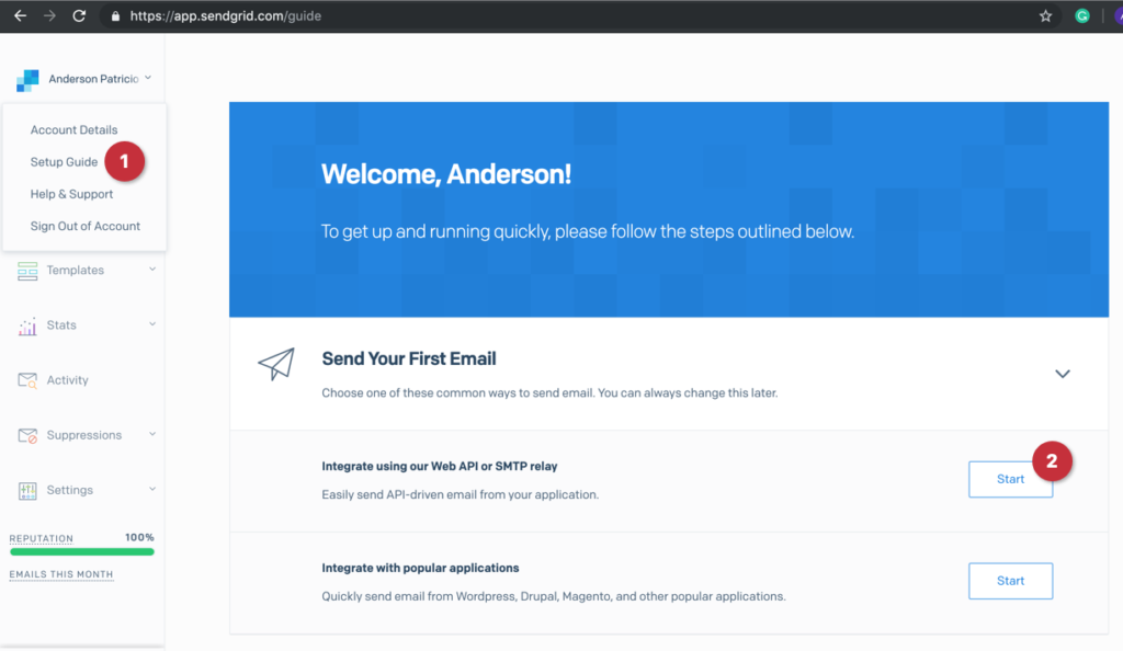 Using Microsoft Azure SendGrid to launch email campaigns