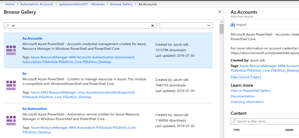 Using the new Azure PowerShell Az module in automation runbooks