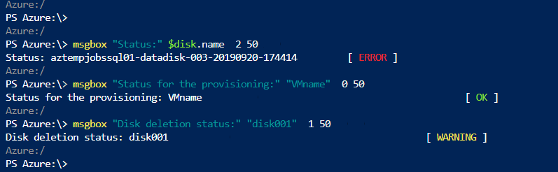 PowerShell function