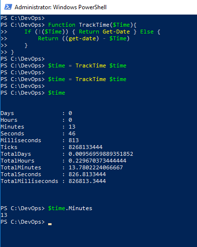 PowerShell script time