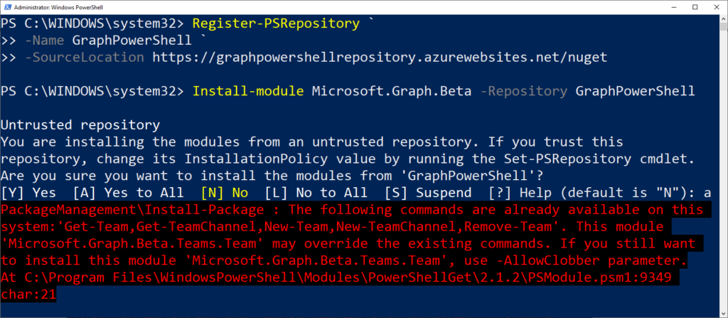 PowerShell module for Microsoft Graph