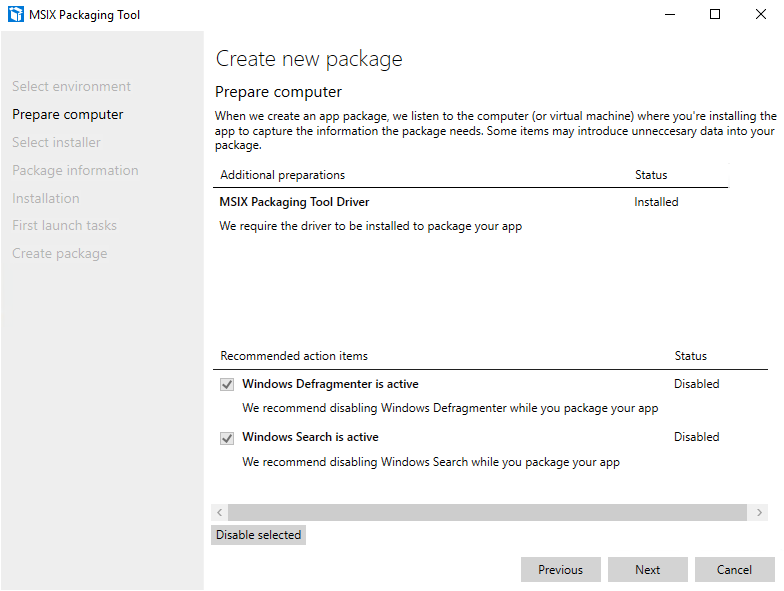 Create Package step 3