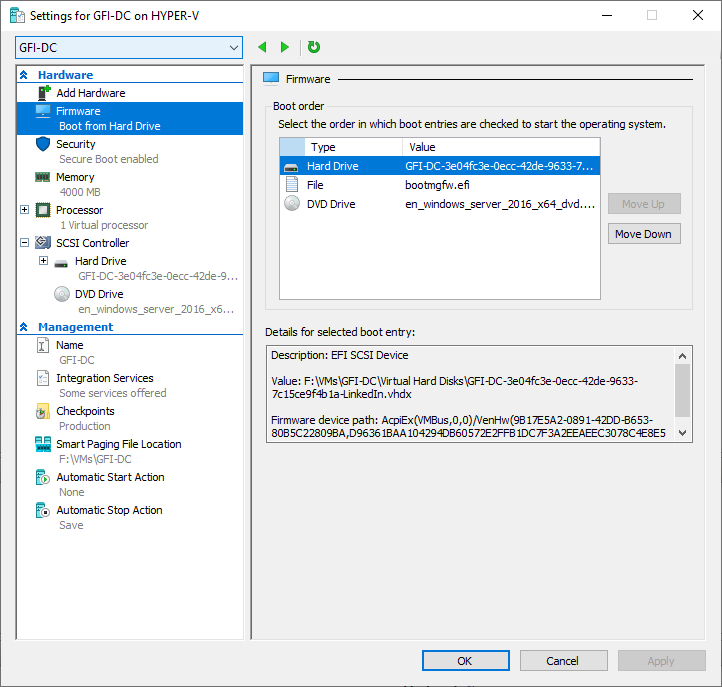 Hyper-V virtual machine that won't start