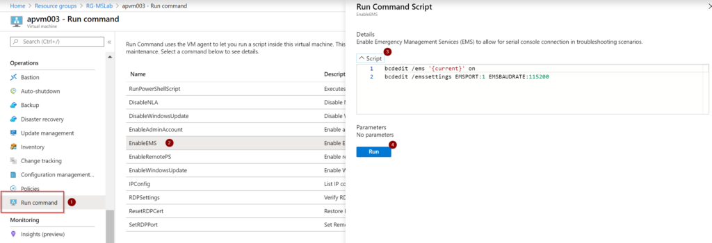 serial console in Microsoft Azure