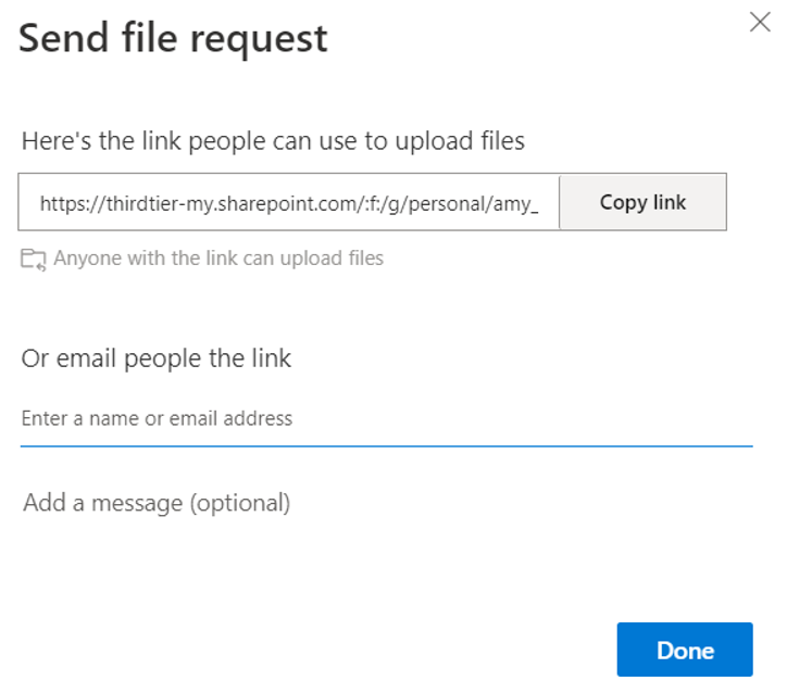 OneDrive: Request Files
