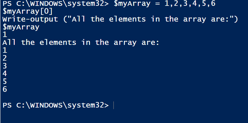 powershell arrays