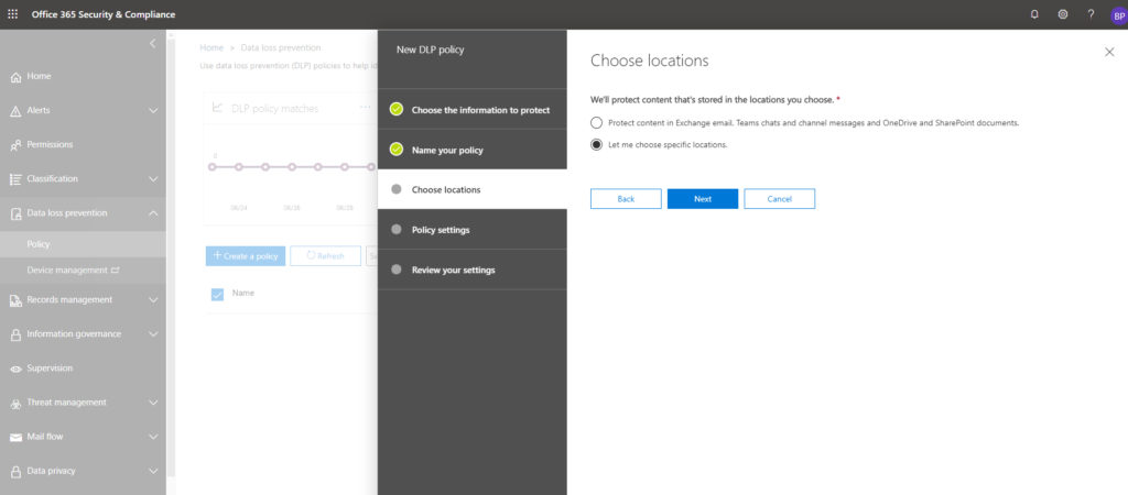 OneDrive for Business DLP