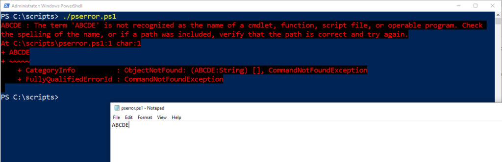 Adding custom error messages to your PowerShell scripts