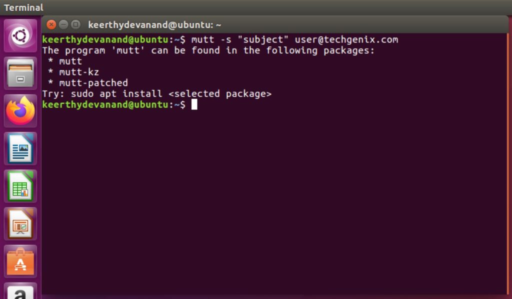 sending emails from linux terminal