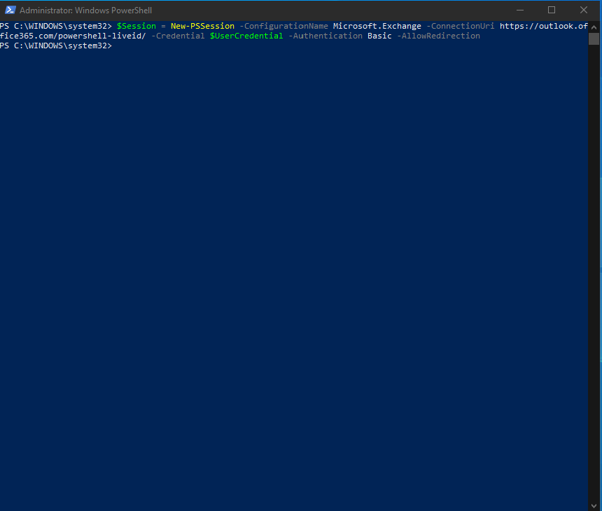 Microsoft 365 and remote PowerShell