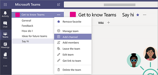 Microsoft teams and channels