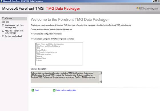 Figure 7: TMG Data packager