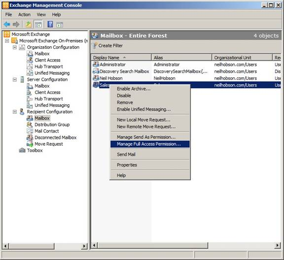 Mailbox Auto-Mapping in Exchange Server 2010 (Part 1)