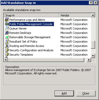 Managing Public Folders with Exchange Server 2007 Service Pack 1 Beta