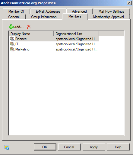 Using HAB (Hierarchical Address Book)