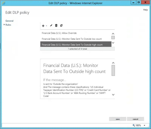 Exchange 2013 data loss prevention part 1 techgenix figure 15 dlp policy properties rules pronofoot35fo Choice Image