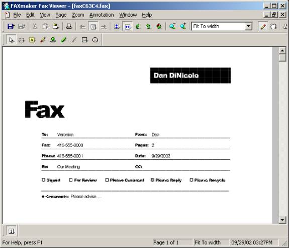 just the fax are you still faxing manually