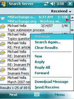 Figure 6 Message Search Results