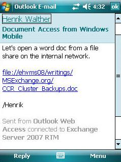 Figure 7 Document Link In Message