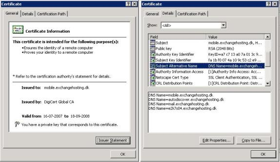 Securing an Exchange 2007 Client Access Server using a 3rd party SAN ...