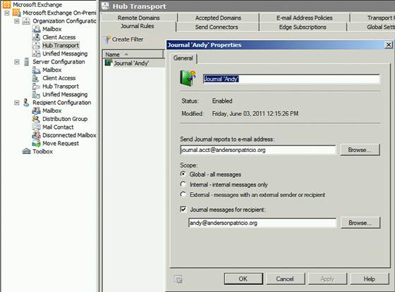 Using Exchange Control Panel (ECP) to manage an Exchange