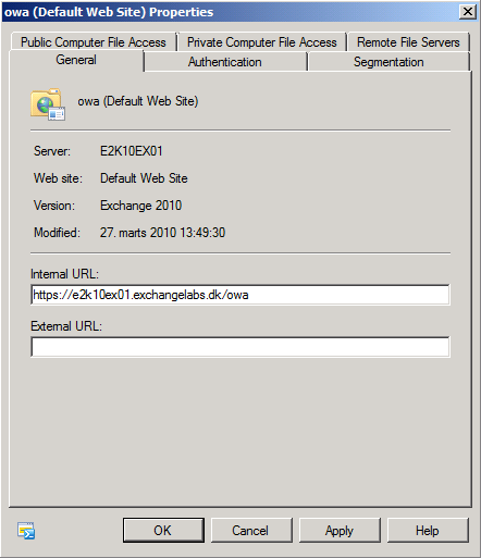 Load Balancing Exchange 2010 Client Access Servers using an