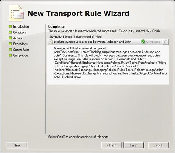 how to use transport rules in exchange server 2007