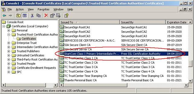 SSL Enabling OWA 2003 Using a Free 3rd Party Certificate