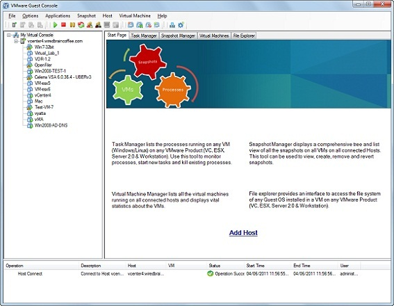 Using Free VMware Guest Console