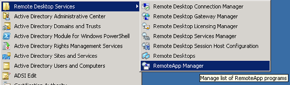 Distribution of Remote Apps and desktops in Windows Server 2012