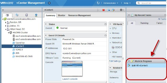Getting Starting with the vSphere 5 Web-Client