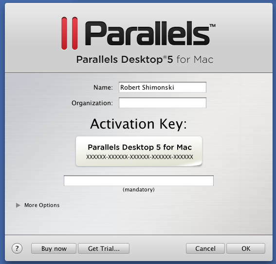 Ключ Parallel Desktop 7