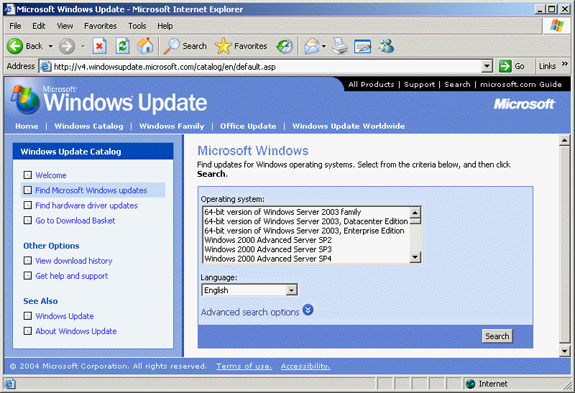 Updating from windows 2000 to xp