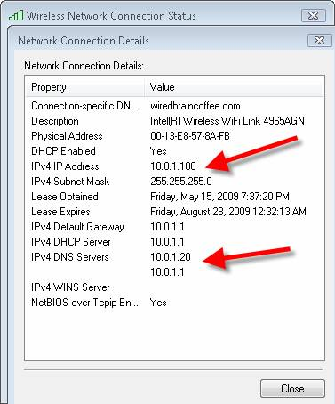 how to find my dns ip address