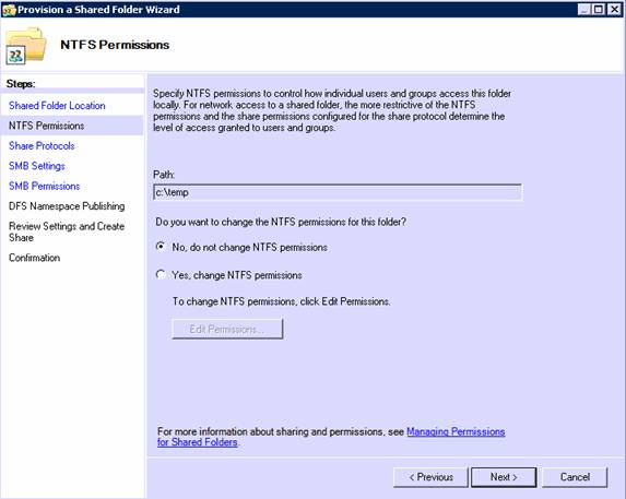 Windows 2008 Share and Storage Management Tool