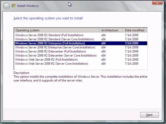 Running Windows Server 2008 R2 – Installing and Creating the