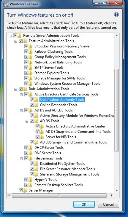 Remote Server Administration Tools for Windows 7 and Windows