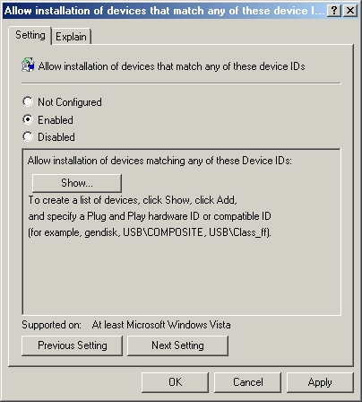 Windows Longhorn: Using Group Policy to Control Device Management