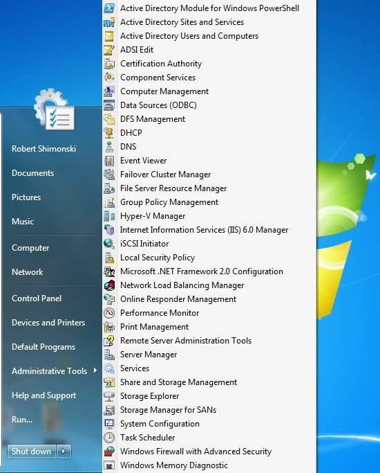 server manager windows 10 starten