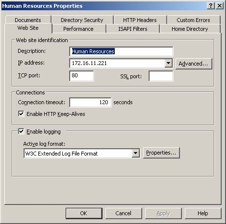 Creating and Configuring Web Sites in Windows Server 2003