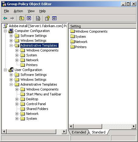 figure 1 administrative templates nodes are formed by the adm templates that are included in the gpo